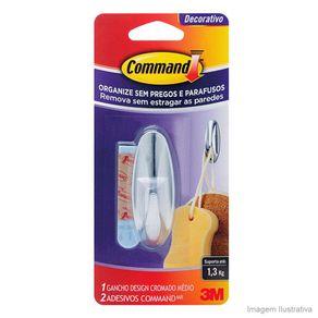 Gancho-Adesivo-medio-unitario-plastico-Cromado-3M™-Command™-40543571