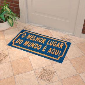 Capacho-Melhor-Lugar-60x30cm-fibra-azul-Coisas-e-Coisinhas-888854234