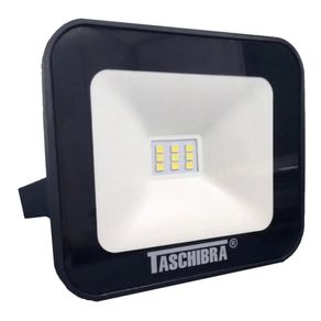 Refletor-Led-Slim-Ip65-Preto-10w-Quente-3000k-Taschibra-888814545
