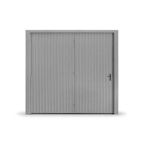 Portao-Contrapeso-em-Chapa-Pintada-c--Porta-Aux-Direita-e-s--Fechadura-Central-240x220cm-Cinza-Maxiaco-888829792