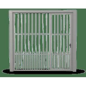 Portao-Contrapeso-em-Grade-de-Tubo-c--Porta-Auxiliar-Direita-e-Cachorreira-s--Fechadura-Central-240x220cm-Cinza-Maxiaco-888829674