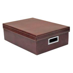 Caixa-Organizadora-Retangular-Marrom-Media-de-Couro-Boxgraphia-13706